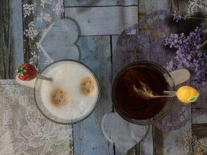 Koffie-thee ansichtkaart